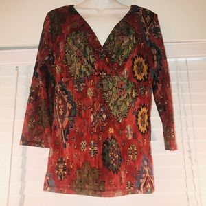 Chaps gorgeous 3/4 sleeve blouse